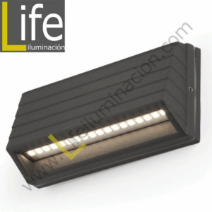 104/LED/2W/30K-GREY APLIQUE EXTERIOR W LED 3000K IP54 COLOR GRIS 220V-