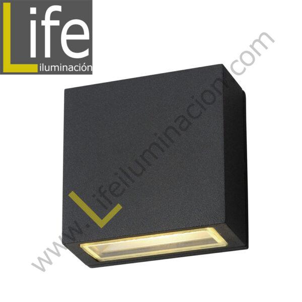 112/LED/6W/30K-GREY/M APLIQUE EXTERIOR 6W LED 3000K IP54 COLOR GRIS MULT 1