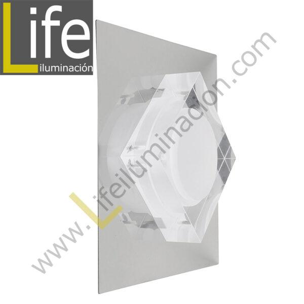 3000/LED/3W/30K/M APLIQUE PARED LED 3W 30K 12.5X12.5X6