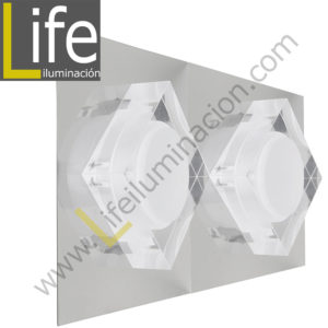 3000/LED/6W/30K/M APLIQUE PARED LED 6W 30K 29X12.5X6.5CM/480LM MULTI