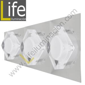 3000/LED/9W/30K/M APLIQUE PARED LED 3W 30K 44X12.5X6.5CM/720LM MULT