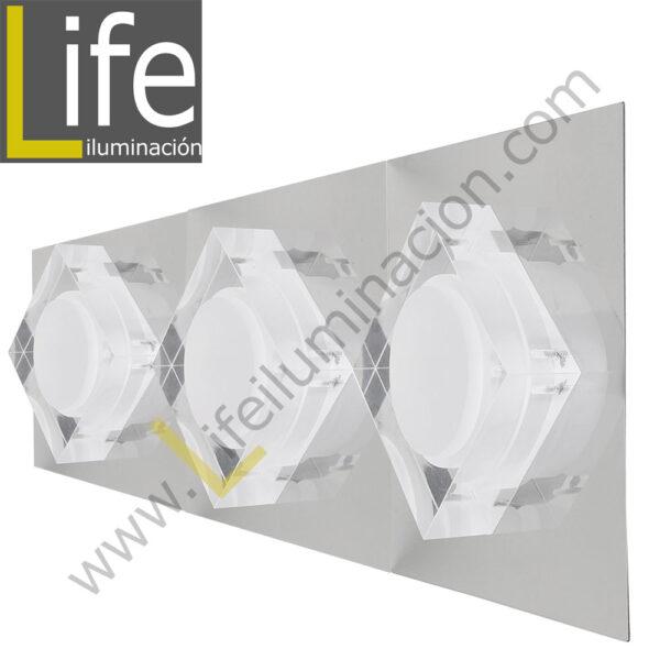 3000/LED/9W/30K/M APLIQUE PARED LED 3W 30K 44X12.5X6