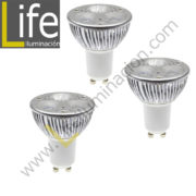 3XGU10/LED/3W/60K/220V THREE PACK LAMPARA LED GU10 3W 6000K 220V-60HZ