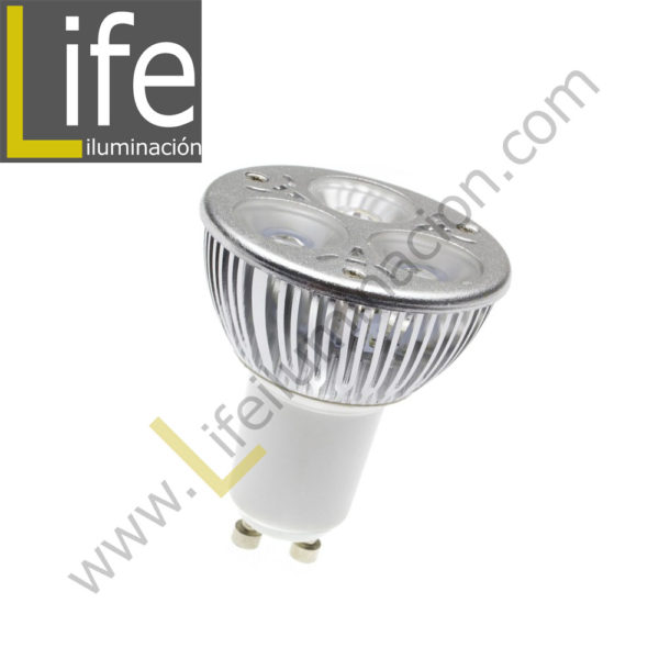 GU10/LED/3W/60KB/M LAMPARA LED GU10 LIGHTECH 3W 60KB DOBLE BLISTER M 1