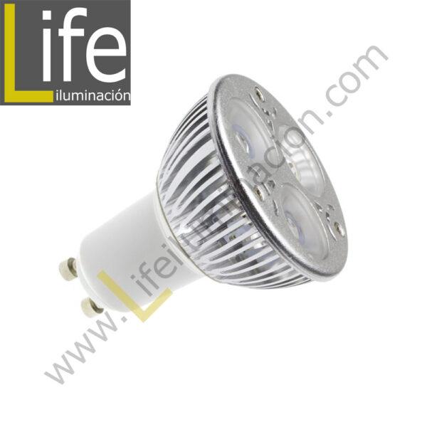 GU10/LED/6W/30K/220V LAMPARA LED GU10 6W 3000K 220V-60HZ 1