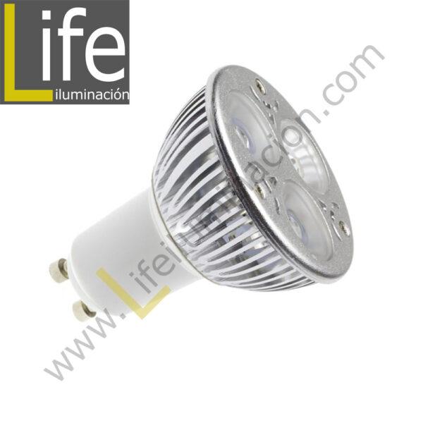 GU10/LED/6W/60K/220V LAMPARA LED GU10 6W 6000K 220V-60HZ 1