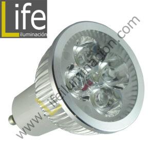 GU10/LED/8W/60K/220V LAMPARA LED 8W GU10 6000K MULTIVOLTAJE