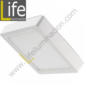 101C/LED/18W/30K/WH/M DOWNLIGHT LED CUAD. ADOSAR 18W/30K BLANCO MULTIVOL