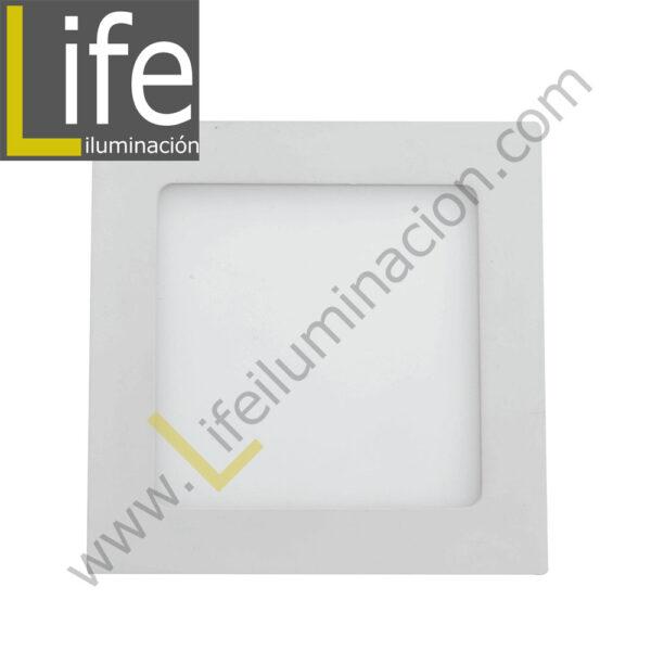 104CE/LED/6W/60K/WH/M SPOT LED CUAD.EMP.6W/60K/WH 9.7X9