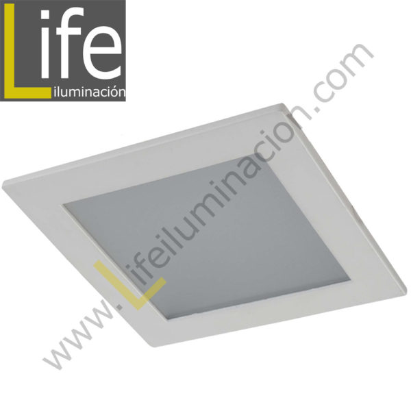 DOWN/SQ/LED/18W/30K/WH DOWNLIGHT LED CUAD. EMP. 18W/30K/WH 22.5X22