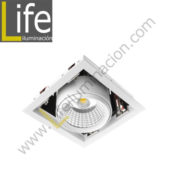 500/LED/25W/30K/WH SPOT LED P/EMPOTRAR 25W 3000K WH 220V/60HZ 1800 Lm – 2200 Lm 1