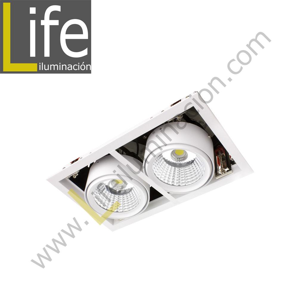 501/LED/50W/40K/WH SPOT LED P/EMPOTRAR 2X25W 4000K WH 220V/60HZ 3300 Lm – 4400 Lm