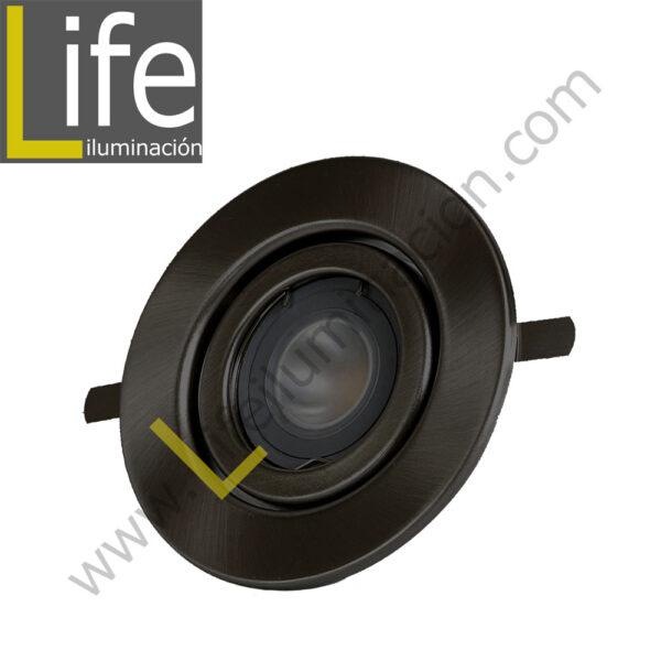 SPOT/LED/4W/SL/30K SPOT LLANO CIRCULAR LED 4W 3000K COLOR SILVER 220V 1