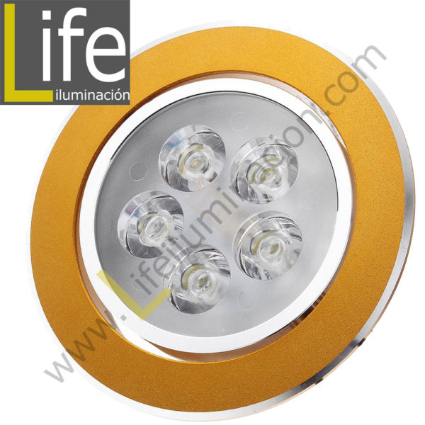 SPOT/LED/5W/GL/60K SPOT CIRCULAR LED 5W 6000K COLOR DORADO 220V/60HZ 1