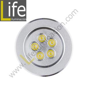 SPOT/LED/5W/SL/60K SPOT CIRCULAR LED 5W 6000K COLOR PLATEADO 220V/60